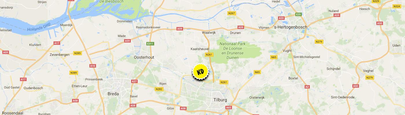 Tilburg kaart